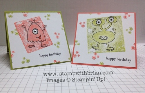 Make a Monster, Teeny Tiny Wishes, Stampin' Up!, Brian King