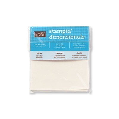 stampwithbrian.com - other uses for Stampin' Dimensionals