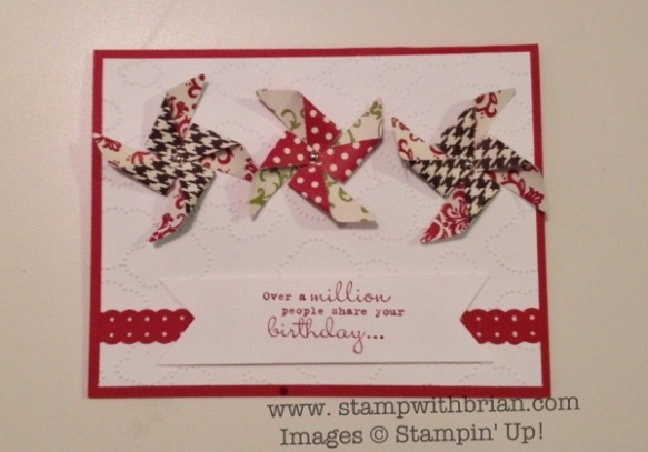 Pinwheel, One in a Million, Stampin' Up!, by Leishman Williams