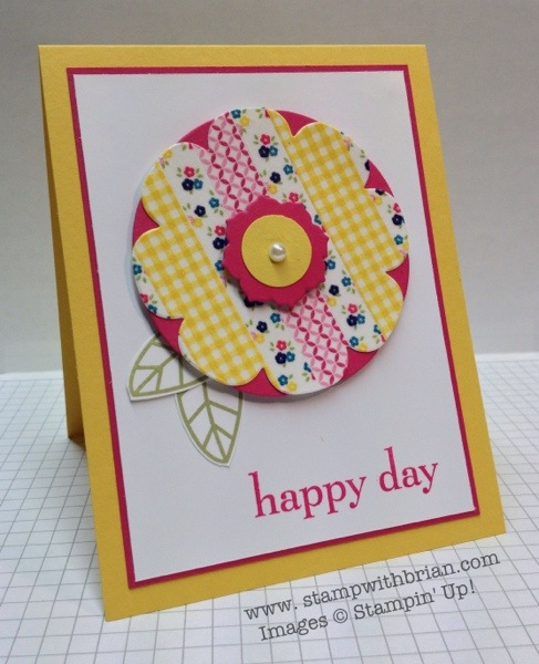 Happy Day, Gingham Garden Washi Tape, Stampin' Up!, Brian King