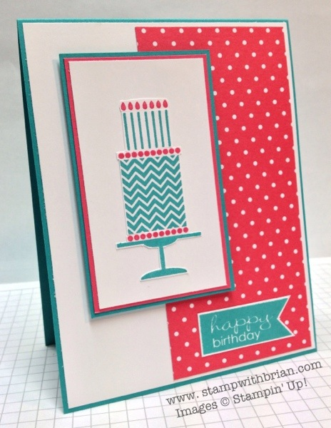 Birthday Cake, Banner Greetings, Stampin' Up!, Brian King
