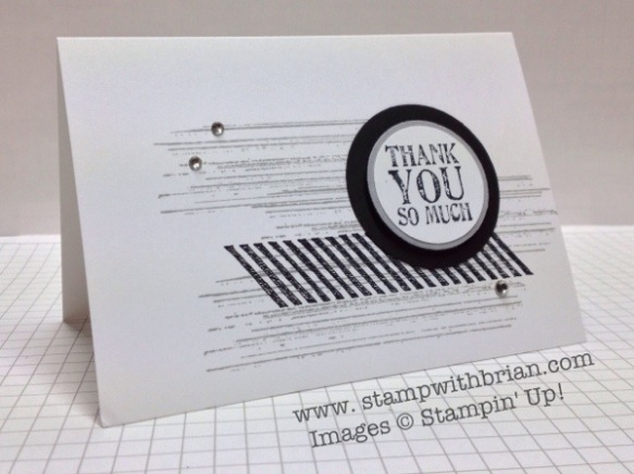 Gorgeous Grunge, Lots of Thanks, Stampin' Up!, Brian King