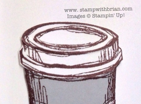 Perfect Blend, Turn a coffee cup into a pill bottle, Stampin' Up!, Brian King