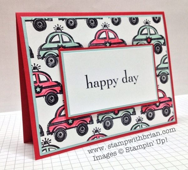 You're My Hero, Happy Day, Stampin' Up!, Brian King, PP163