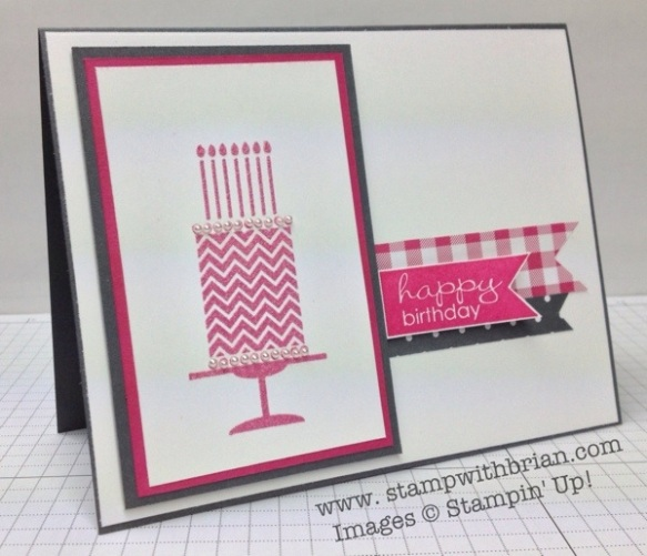 Birthday Cake, Banner Greetings, Stampin' Up!, Brian King, PP165
